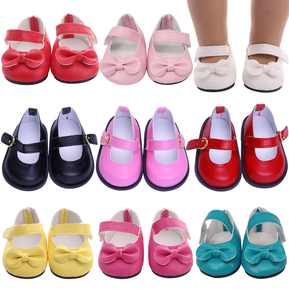 7Cm Doll Shoes Bow-knots Sequins Shoes For 43Cm Baby New Born Reborn Doll&18 Inch American Our Generation Girl`s Toy 1/3 Blythe недорого