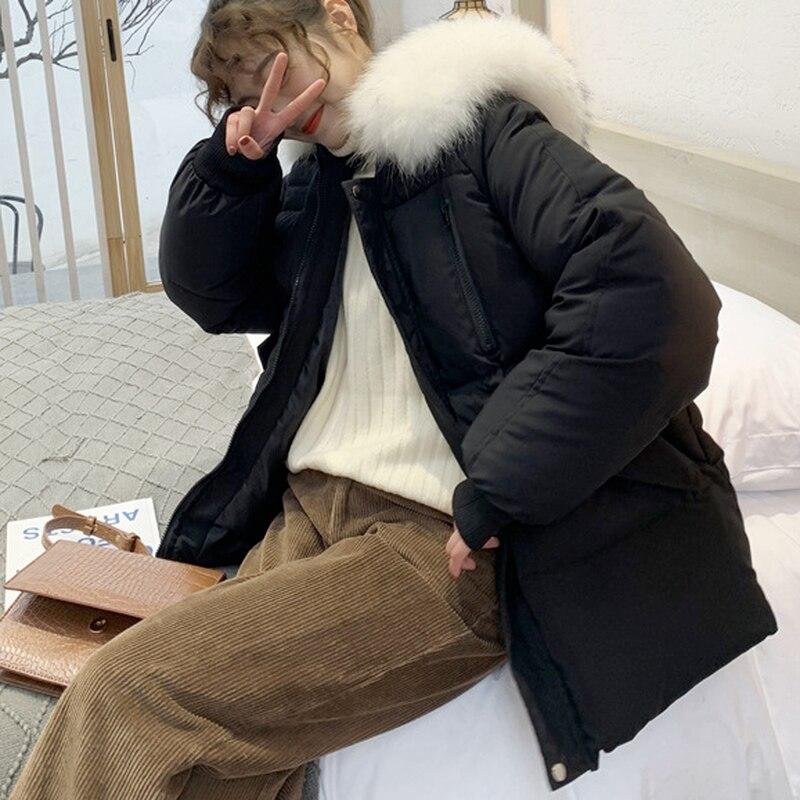 Стеганая куртка женская зимняя свободная стеганая куртка средней длины Женская Толстая стеганая куртка Женская свободная стеганая куртка