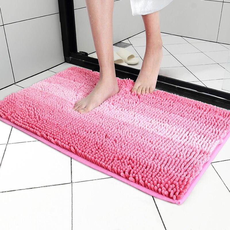 Утолщенные ножки, Коврик для ванны, шенилловые Коврики для пола, коврики для ванной комнаты, водопоглощающие входные Придверные коврики, не...