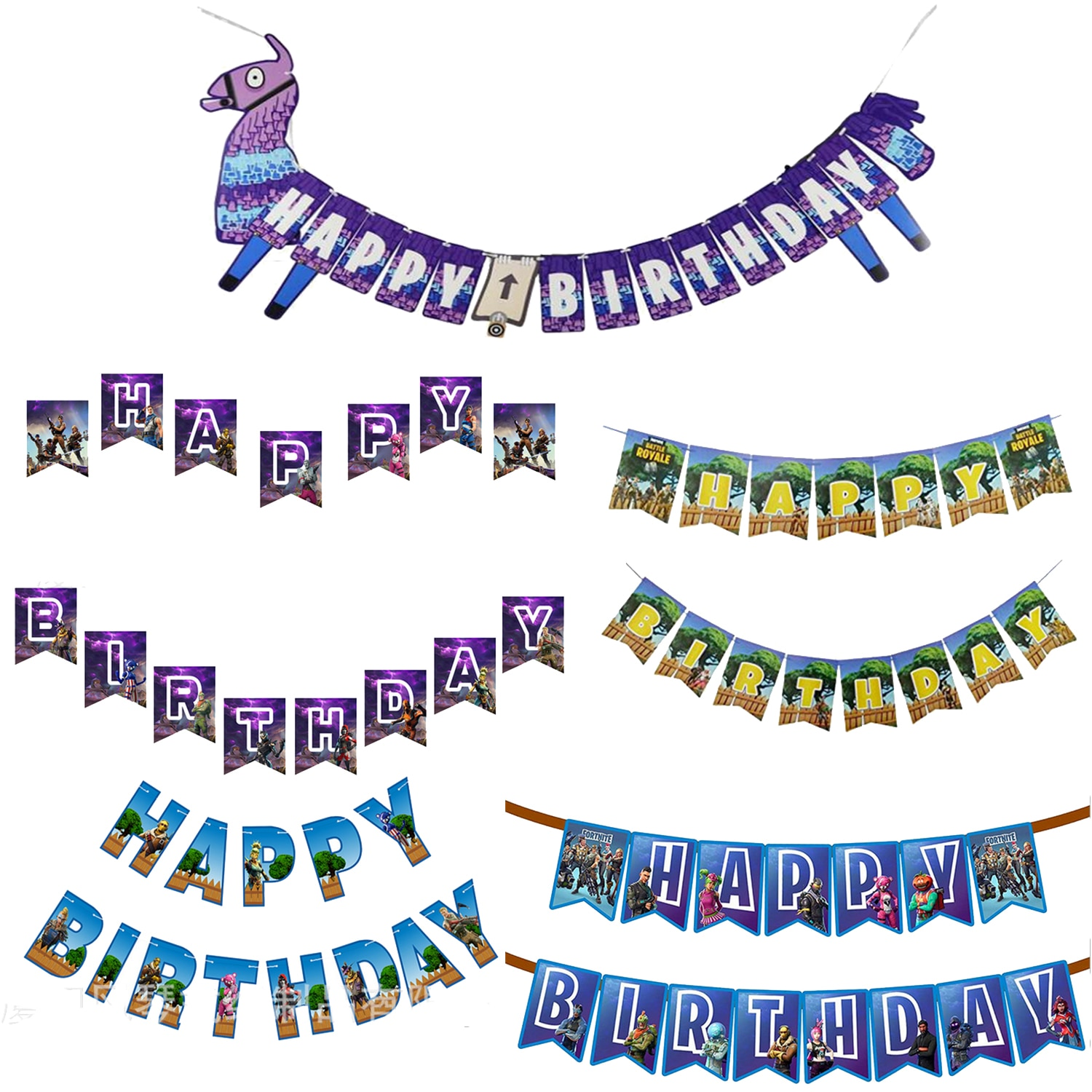AliExpress - Kids Party Supplies Fortnite Banner Child Birthday Party Fortress Night Flat Decor Party Decoration Kids Birthday Party Decor