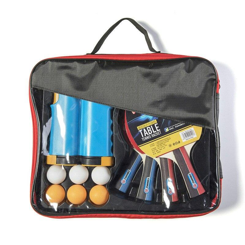 Conjunto de Raquete de Tênis de Mesa Retrátil e Portátil Raquete Bola Profissional Equipamento Setwith Net Quadro Pacote 4 6