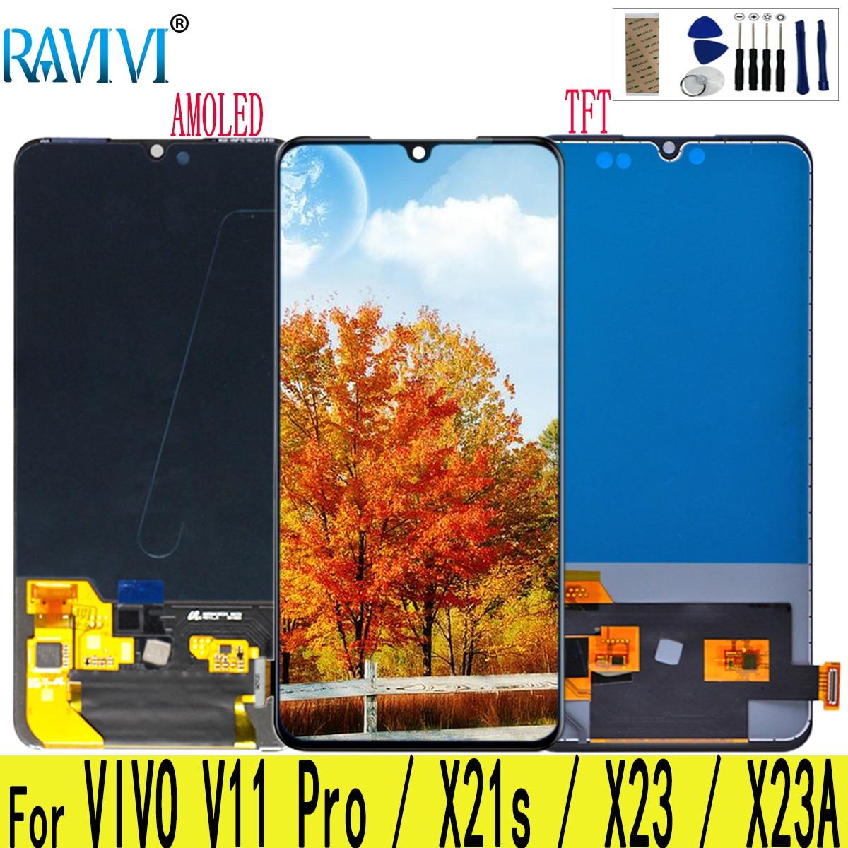 """6.41 """"AMOLED Para Vivo X23 X23 Display LCD Touch Screen Substituição Digitador Assembléia Para Vivo X23A"""