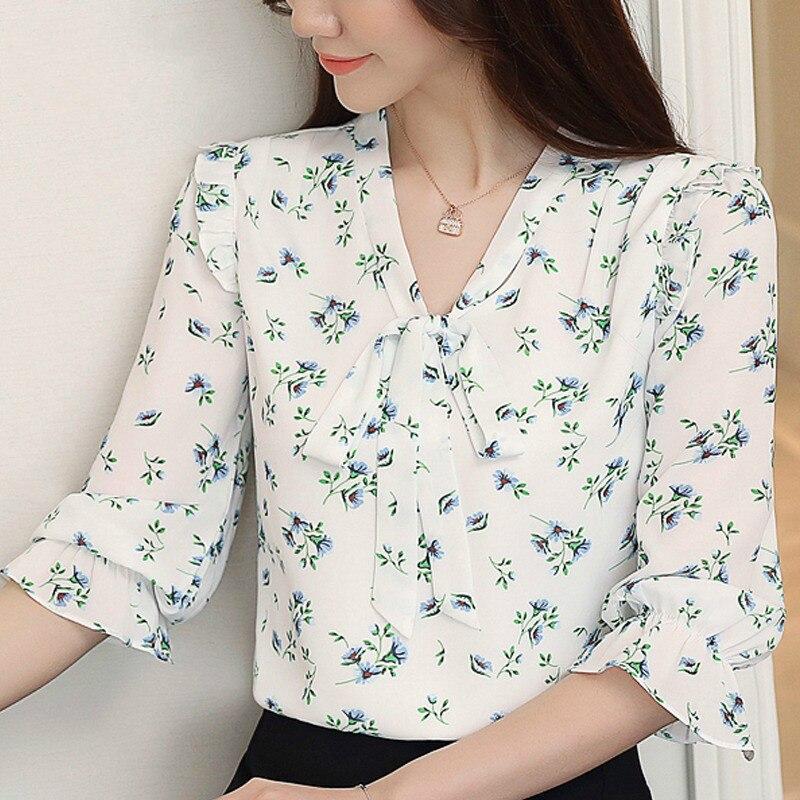 Partes superiores das mulheres e blusas 2019 foros ¿ombro top blusa chiffon das senhoras das mulheres camisas blusa tops