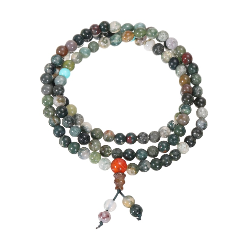 2 шт./компл. 108 бусин Mala браслет ожерелье 6 мм кристалл Будда Браслет/ожерелье для женщин девочек молитва благословит тибетский буддийский