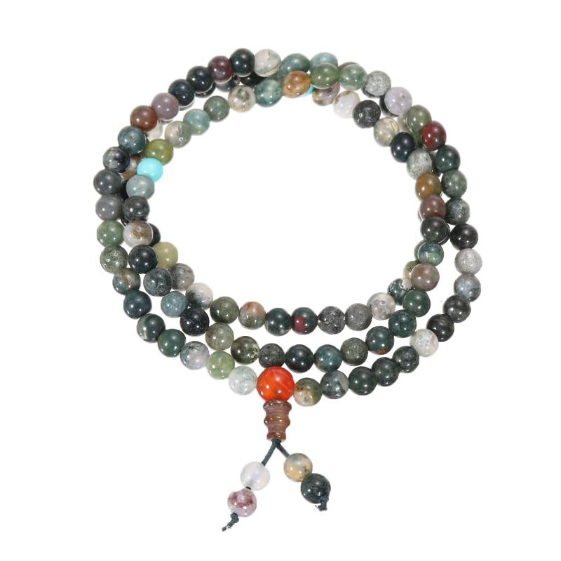 2pcs/set 108 Beads Mala Bracelet Necklace 6mm Crystal Buddha Bracelet/Necklace For Women Girls Prayer Bless Tibetan Buddhist