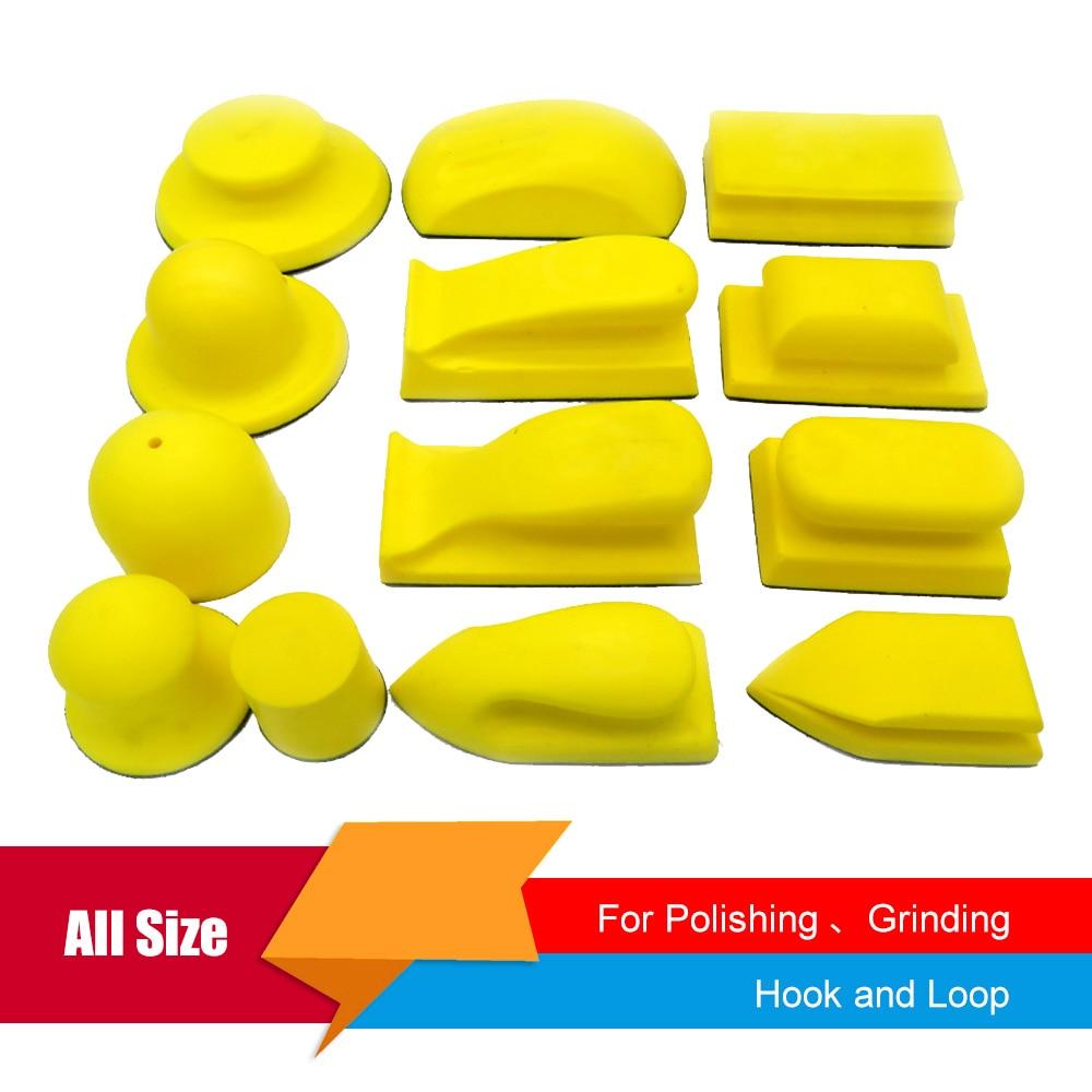 Blocco di levigatura manuale di tutte le dimensioni, platorello di supporto per carta vetrata, supporto per dischi abrasivi per la lavorazione del legno, gancio per lucidatura manuale