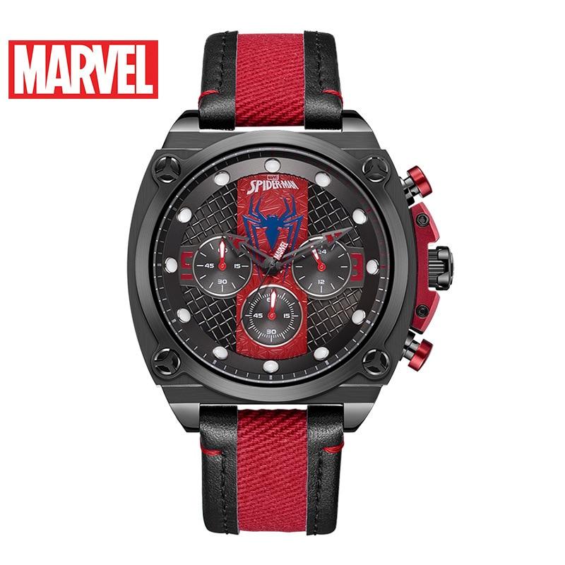 Disney Marvel 2021 New Quartz Belt Steel Band Watch Men's Casual Fashion Sports Personality Six-pin Watch