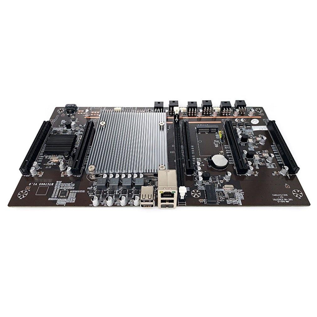 BTC-X79 X5 Dual CPU Mining Motherboard Mine Board 5-card Multi-graphics Slot Large-spacing Quick Start Mining Board