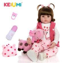 KEIUMI offre spéciale Reborn bébé poupée jouet tissu corps en peluche réaliste bébé poupée avec girafe enfant en bas âge anniversaire cadeaux de noël bricolage