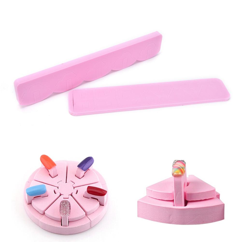Soporte de apoyo para los dedos para aerógrafo esmalte de uñas en Gel manicura hogar salón mujeres herramientas de belleza 1 Juego