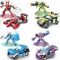 transformation robot car auto model building blocks deformation brinquedos city educational bricks toys for kids children gift