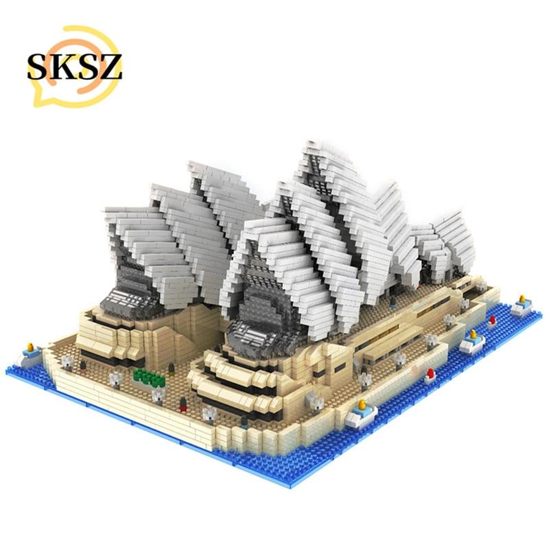 4131 шт. блоки известном городе архитектура Сидней опера модель конструкторных блоков, Детские кубики, развивающие игрушки для Детский подар...