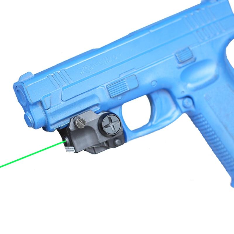 Verde táctico láser haz punto mira para pistola Rifle pistola Picatinny montaje Glock 26 19 43 17 42 puntero láser