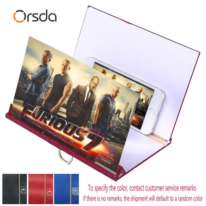 AMPLIFICADOR DE PANTALLA universal Orsda amplificador de pantalla de teléfono móvil de madera HD 3D para Iphone Samsung Huawei mijo
