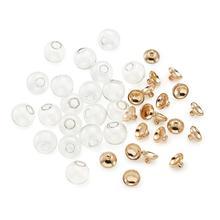 8/10/12/14/16/18mm perles rondes en verre soufflé mécanisé pendentif plaqué or pour la fabrication de bijoux de collier de boucle doreille