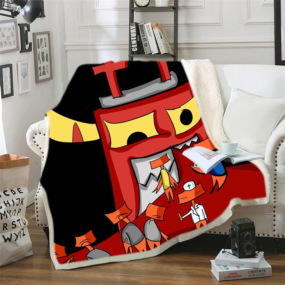 بطانية شيربا من القطيفة الكرتونية ، ناعمة ومريحة ، كبيرة وصغيرة وكبيرة ، أريكة ، ديكور غرفة نوم ، للرجال ، الأولاد ، الكبار ، هدايا للأطفال