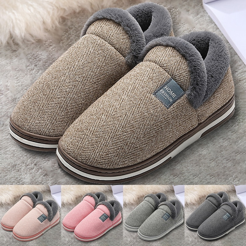 New Winter Home Slippers for Men Winter Furry Short Plush Man Slippers Non Slip Bedroom Slippers Couple Soft Indoor Shoes Male home warm slippers for men women winter furry short plush man slippers non slip bedroom slippers couple soft indoor shoes male