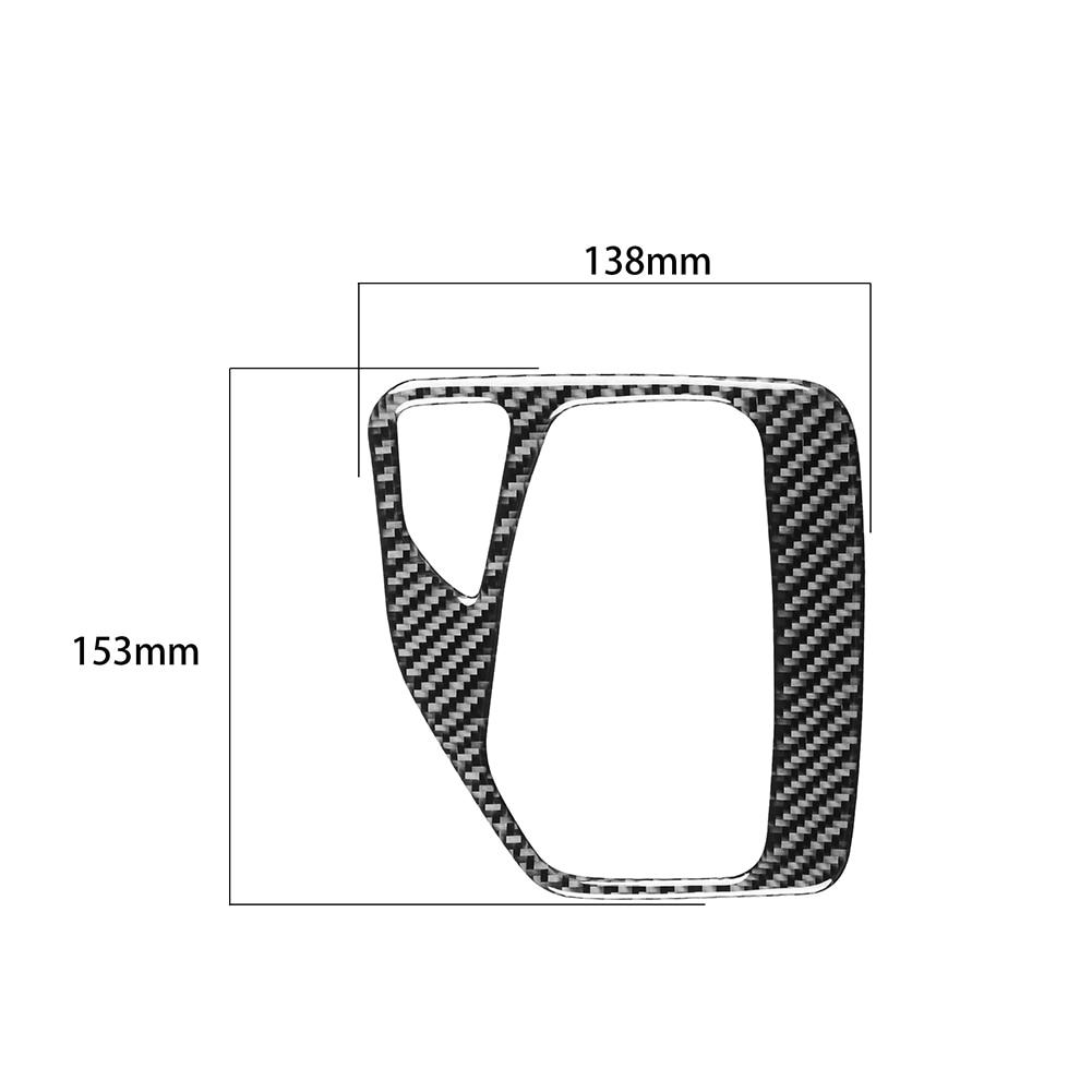 Carbon Fiber Car Gear Shift Frame Sticker Interior Decor for BMW X1 E84 11-15 Automotive Interior Stickers Accessories Interior