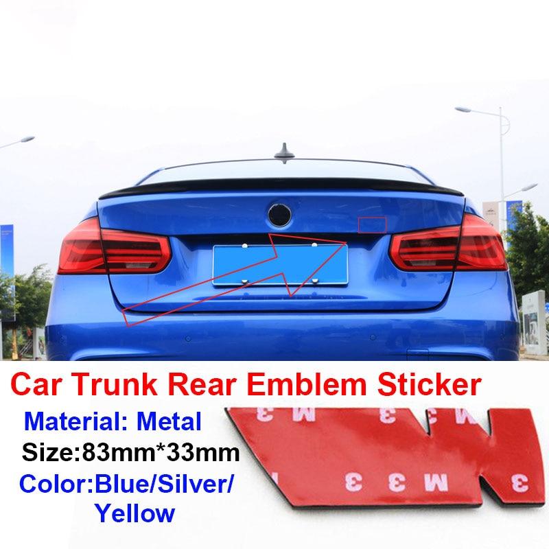 AliExpress - 1pcs Car Trunk Metal Sticker Car Badge Decal For BMW M Performance Power X1 X3 X5 X6 E84 E83 F25 M3 E90 E91 E60 F15 F16 E70 F30