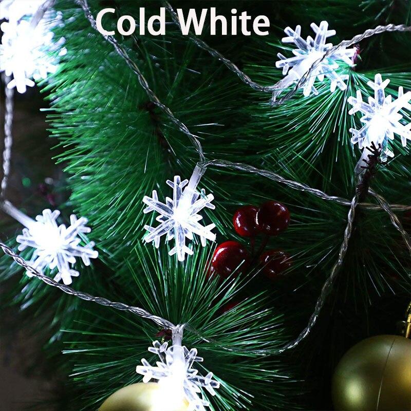 220 v plug ue 10 m 100led flocos de neve guirlandas de natal fadas led string luzes natal casamento decoração ao ar livre lâmpada