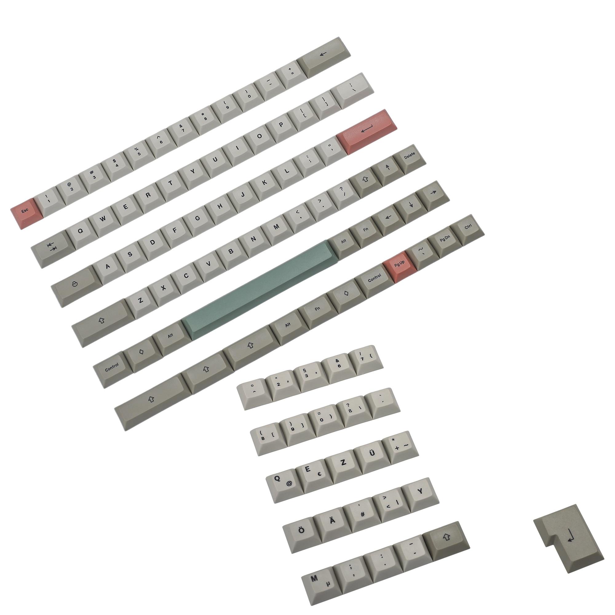 YMDK 61 64 68 DSA الشخصي 9009 صبغ الفرعية ANSI ISO ازرتي QWERTZ اسبانيا المملكة المتحدة الفرنسية الألمانية الايطالية Keyset PBT Keycap للوحة المفاتيح MX