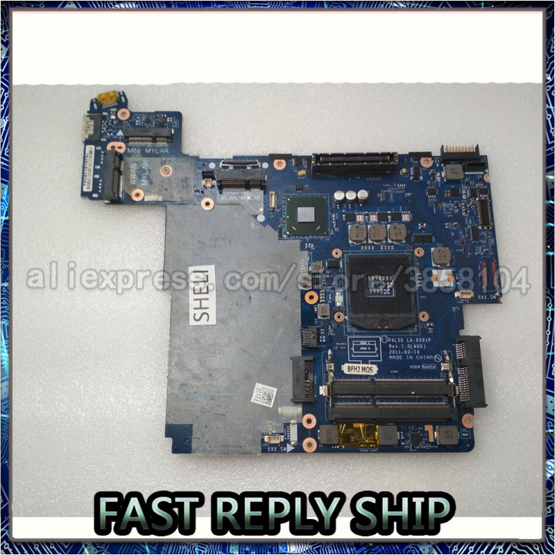 SHELI para Dell E6420 laptop placa base LA-6591P 07TR3J 04XJ7H 0RFCPG QM67 100% probado buen funcionamiento