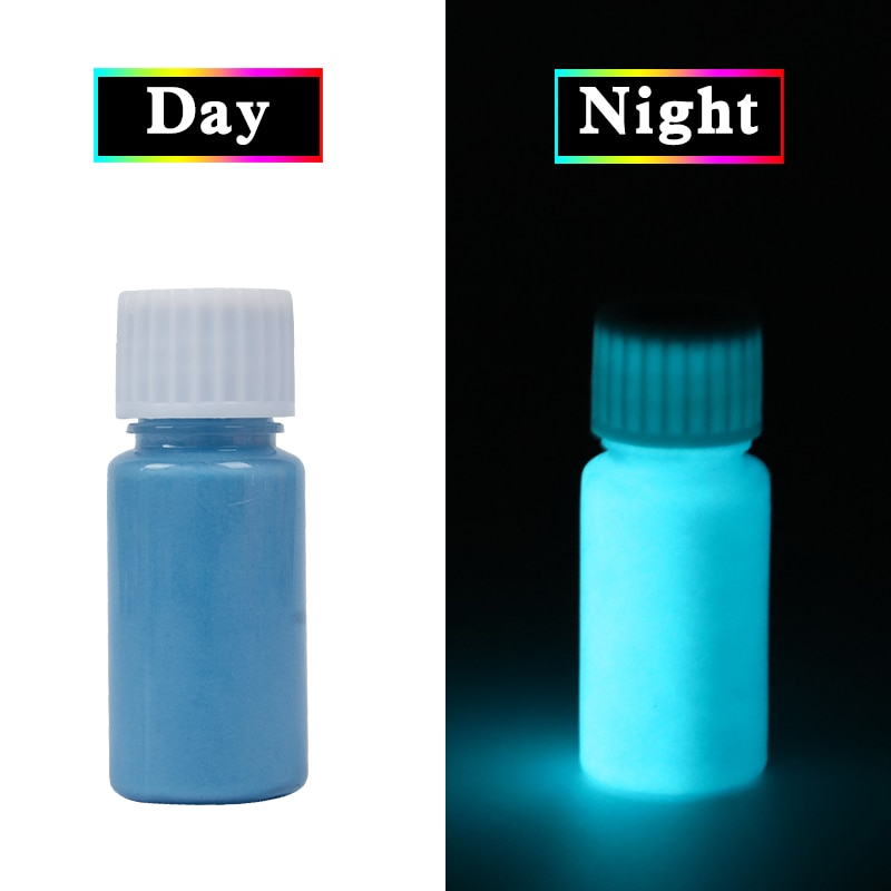 Blue Glow In The Dark Luminous Sand Acrylic Fluorescent Paint Party Bright Paint Star Nail Decoration Paint Halloween 20g недорого