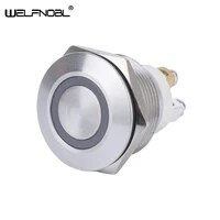 22mm waterproof ip67 ring momentary 12v 220v metal push button switch with terminal pins