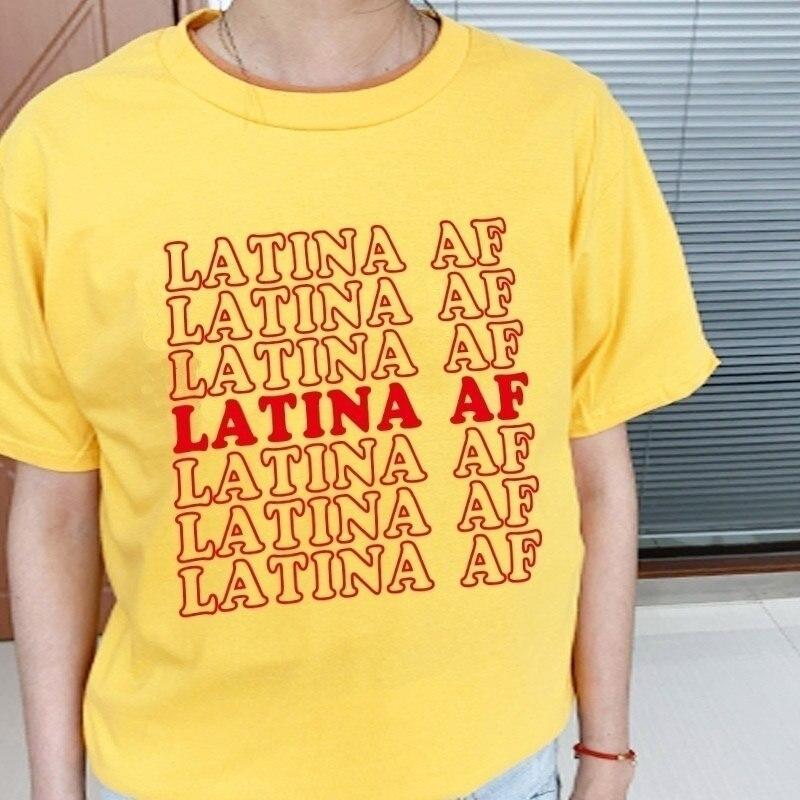 Sunfiz YF Latina camiseta AF Grunge Tumblr Camisetas gráficas estéticas para mujeres cita divertida moda de calle Estilo Vintage camiseta de arte Top