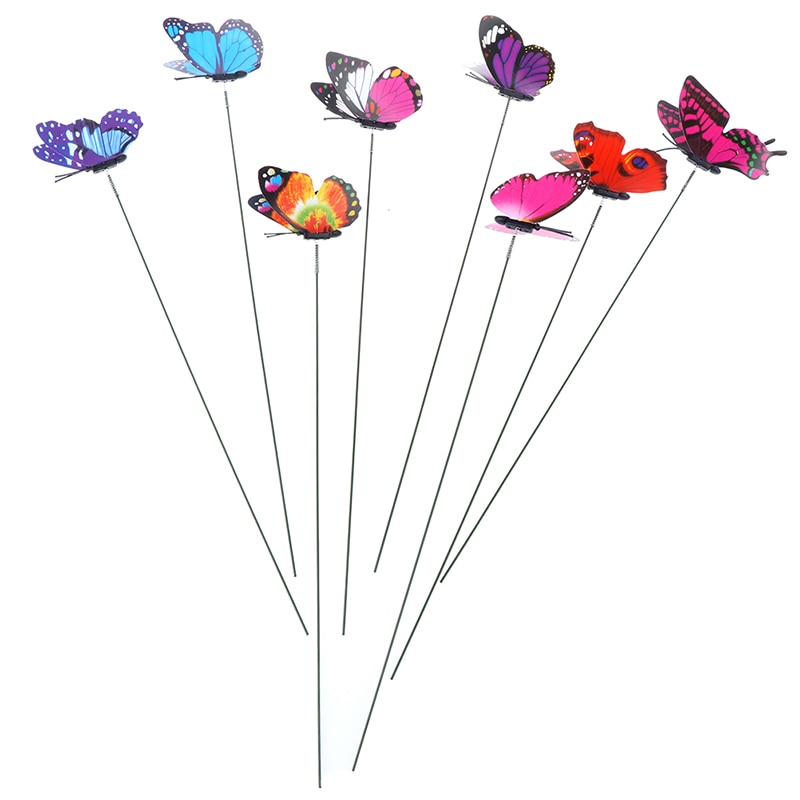 Bunch Of Butterflies Garden Yard Planter  Flower Pots Decoration Colorful Whimsical Butterfly Stakes Decoracion Outdoor Decor