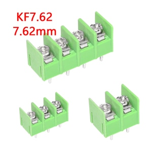 1PCS 7.62 mm KF7.62 - 2P 3P 4P MG 762 - 2P 3P 4P Pin Can be spliced Screw Terminal Block Connector  Green 7.62mm Pitch
