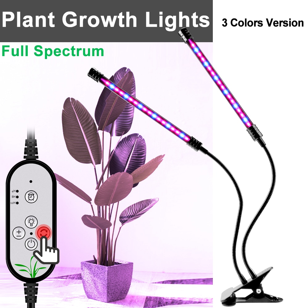 5V USB Plant Light Waterproof Fitolamp 9W 18W 27W Dimmable LED Phyto Lamp Full Spectrum Growing Lamps With Time Memory Function