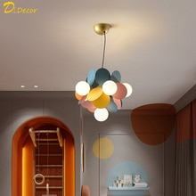 Moderne Led Hanglampen Kleurrijke Kinderkamer Hanglamp Kinderkamer Decoratieve Opknoping Lamp Slaapkamer Hang Lamp Indoor