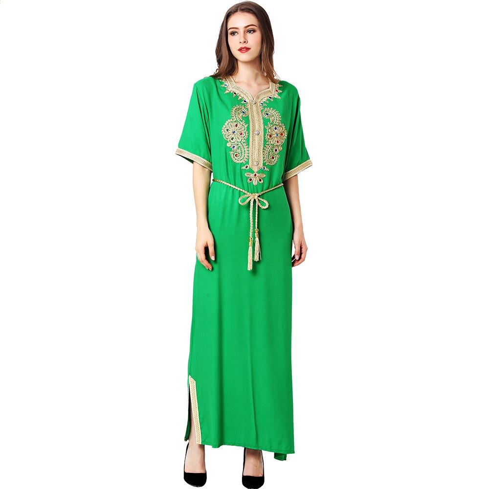 Халат Longue Femme платья Абая для женщин Исламская одежда Vestidos Рамадан ИД арабский абайя Дубай Пакистанская Турция мусульманское платье