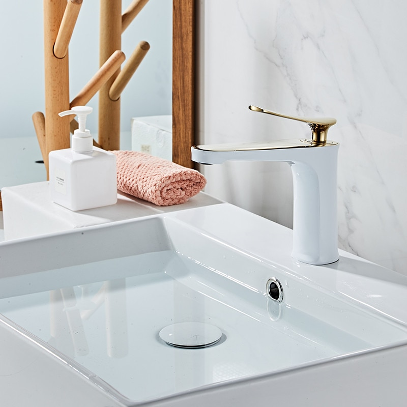 Single Hole Washbasin Hot And Cold Faucet Above Counter Basin Paint Chrome Faucet Bathroom Accessories enlarge