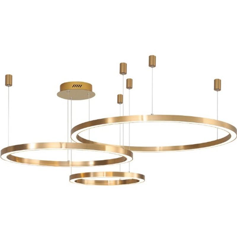 الشمال الحد الأدنى الحديثة الثريا جو الإبداعية LED غرفة المعيشة غرفة الطعام الذهبي الثريا غرفة نوم حلقة دائرية مصباح