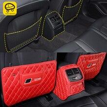 CarManGo otomatik araç bakım koltuğu arka koruyucu kapak Anti-kick Mat Pad yastık iç aksesuarı Audi A4 A5 S4 S5 b9 2017-2020