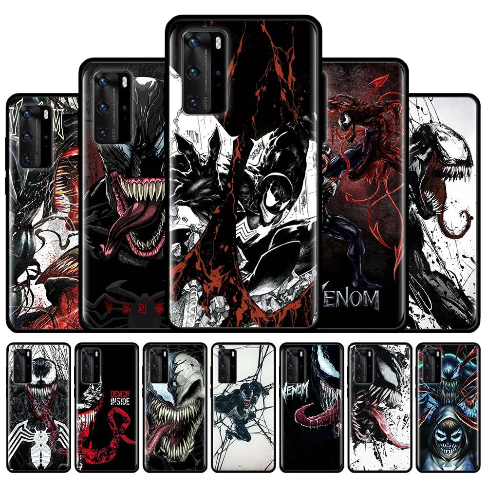 Silicone Phone Case For Huawei P40 Lite E P20 P30 Lite P40 Pro Plus P Smart Plus 2019 Couqe Cover Marvel Venom Soft Bumper Cases