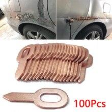100x Car Body Dent Repair Tools Spot Welding Straight Pull Rings Washer Holder