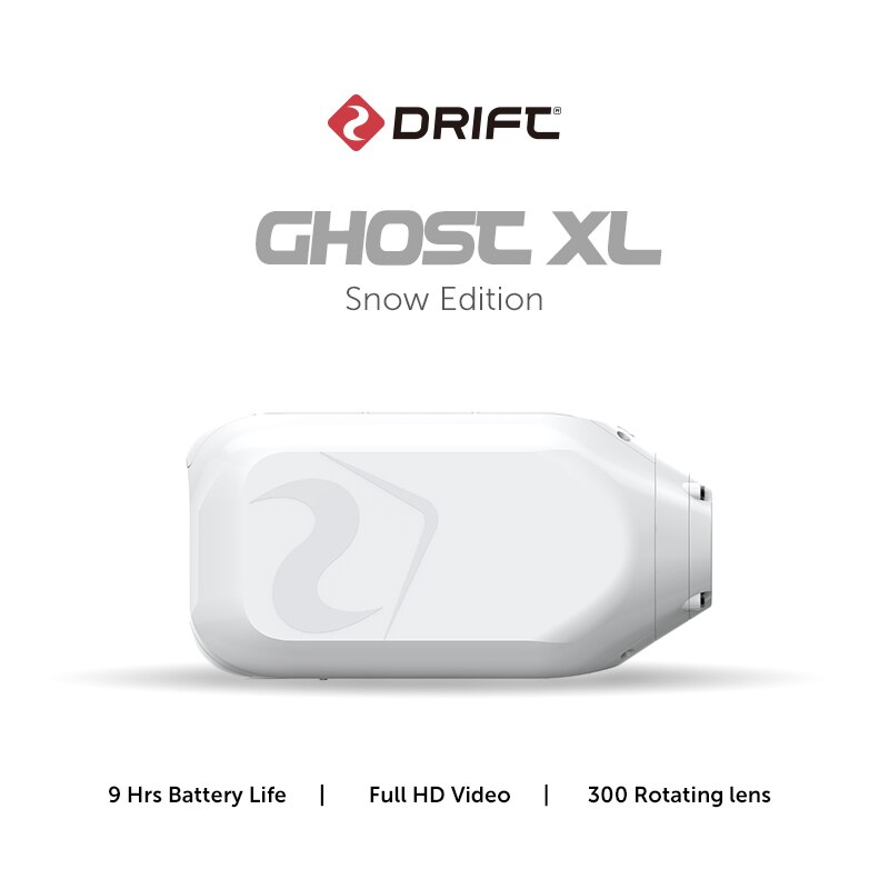 Drift Ghost XL Snow Edition Action Camera Live Stream Vlog Sport 1080P Motorcycle Wearable Bike Bicycle Helmet Police Cam WiFi