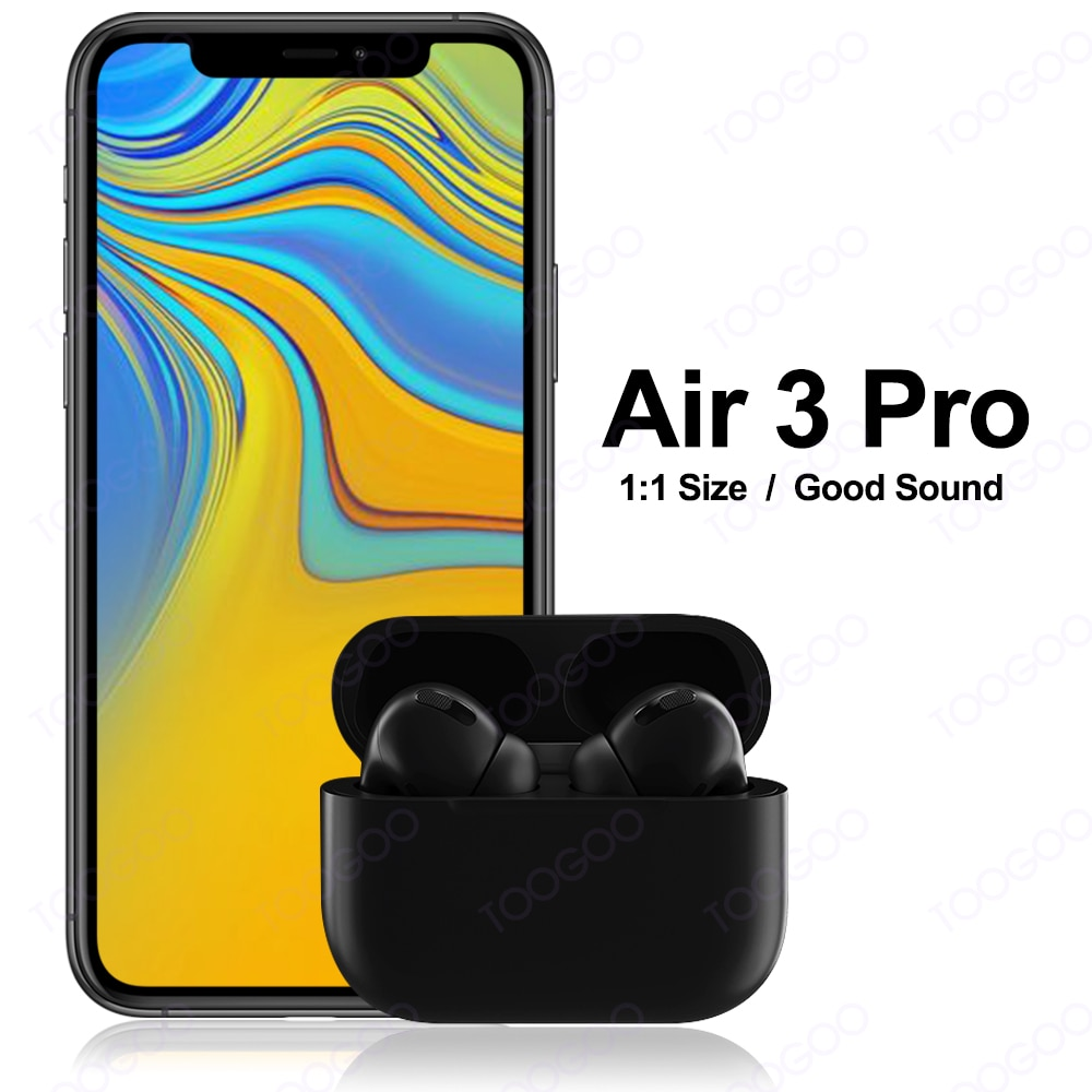 3 pro Tws auriculares Bluetooth auriculares inalámbrica auriculares táctil auriculares impermeables Blackpods con caso de carga para IOS