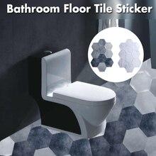 Carrelage autocollant de sol de salle de bains, en PVC, carrelage adhésif, marbre, décoration de sol, cuisine, salon