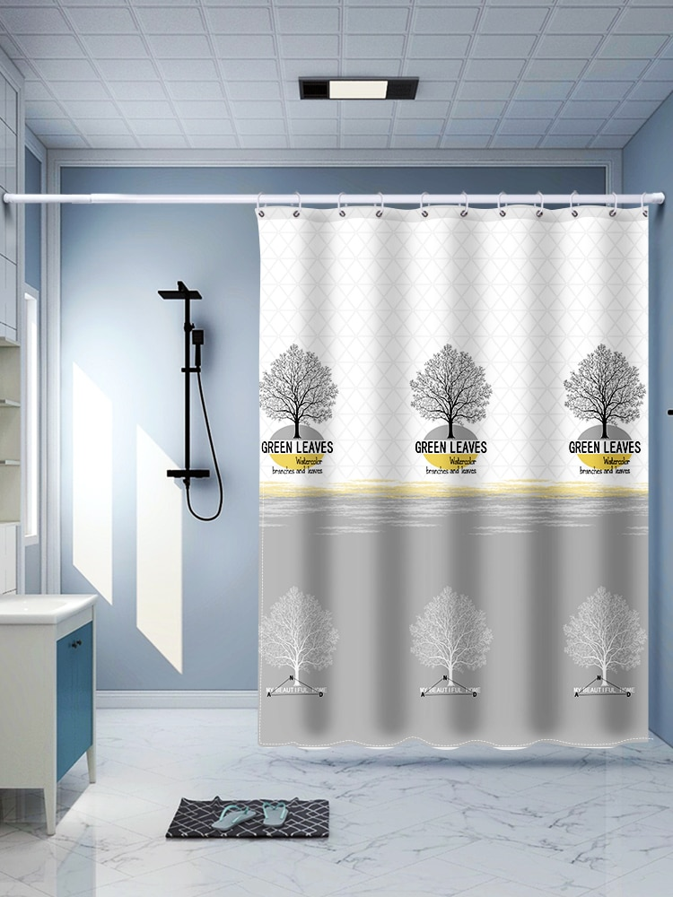 Fruit Plant Shower Curtains Polyester Cartoons Tropical Shower Curtain Funny Nordic Kurtyny Home Decoration Accessories DK50SC enlarge
