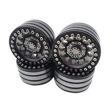 4pcs Alloy Rock Crawler Beadlock Wheel RIM 1.9 Inch for Axial Racing SCX10 TRX-4 TF2 JEEP RC CAR