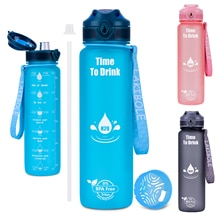 Water Bottle Sports 1000ML Bottle For Drinking With Straw Outdoor Travel Portable Leakproof Drinkwar