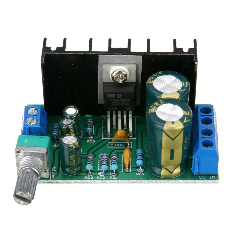 TDA2050 DC 12-24V Module USB Home Durable Mini Sound Amplifier Board Audio Power DIY 5W-120W Professional Mono Channel