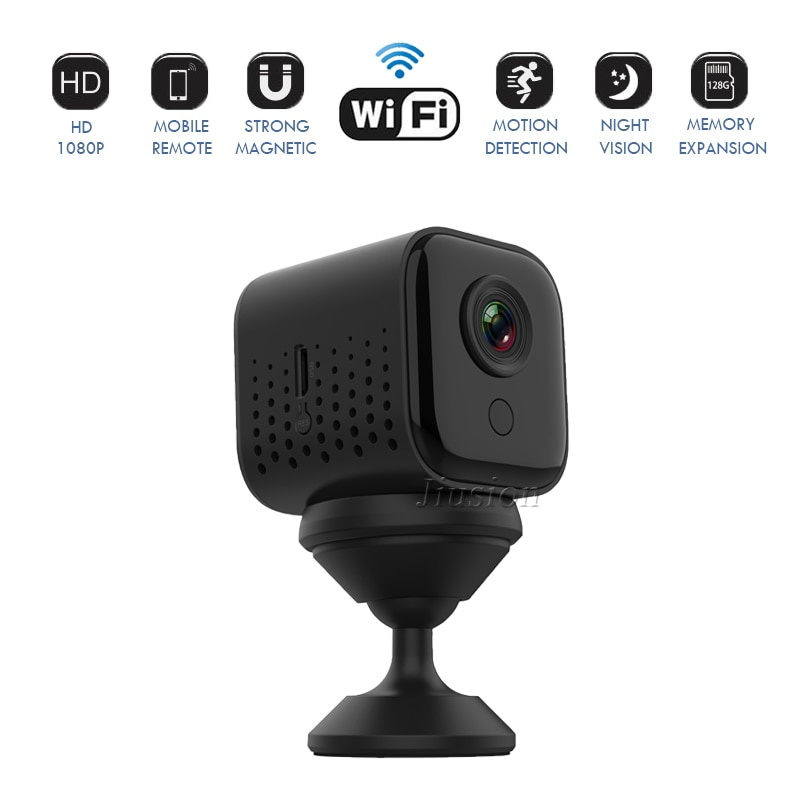 Mini cámara IP de seguridad Full HD 1080P, videocámara DVR con visión...