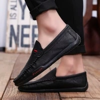 new men casual moccasins men loafers high quality leather shoes men flats driving wedding party shoes hommes chaussures