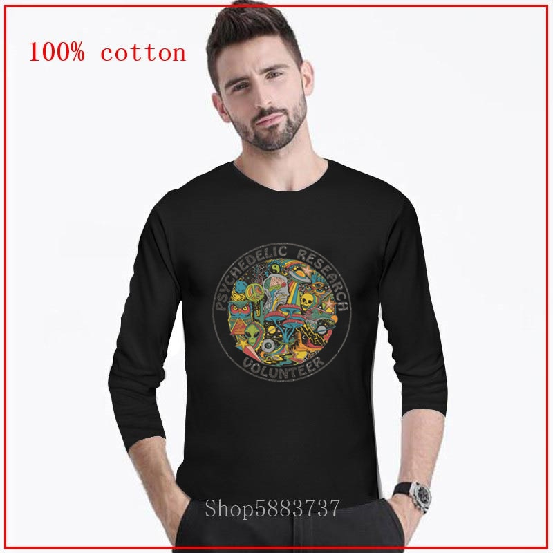 Camiseta psicodélica de 2020, camiseta para hombre con dibujo animado, parte de arriba de estilo Hip Hop, divertida camiseta larga