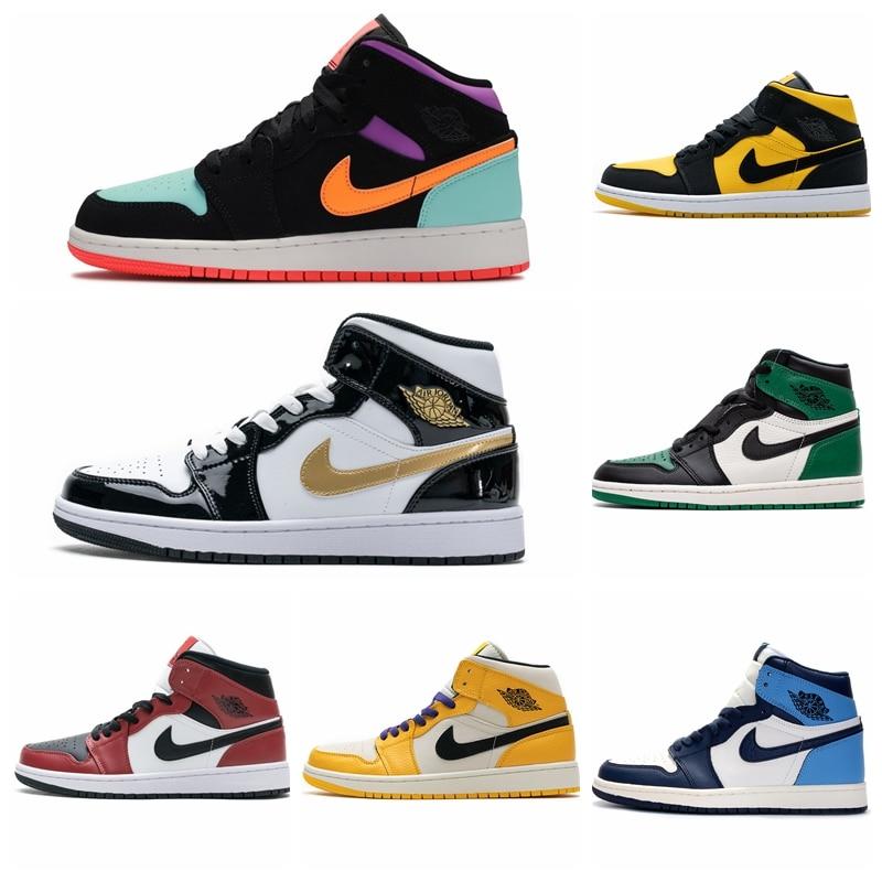 -Zapatillas de deporte zapatillas de baloncesto Air Jordan 1 para hombre mujer......